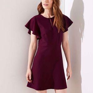 New w/ tags purple keyhole fit & flare LOFT dress